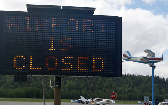 airport remains closed following crash